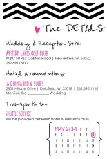 Chevron Collection - Wedding Invite (back)
