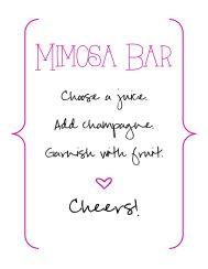 Bridal Shower - Mimosa Sign