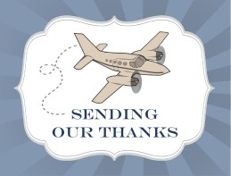Plane Ticket - Thank You Card