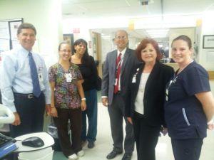 L to R: Patrick Muldoon, Kim Cosetta, RN, Denise Latino, RN, Doug Brown, Diane Thompson, RN, Betsy Green