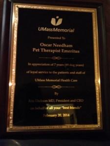 Oscar's plaque