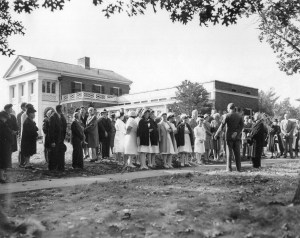 Ground was broken for the Bowers Building in 1946.