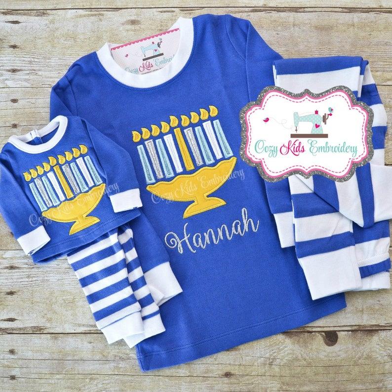 Custom Hanukkah Pajamas
