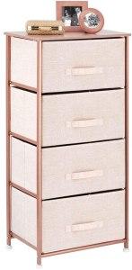 rose gold storage organizer