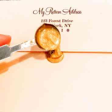 DIY Wedding Pocket Invitation - Step 10, wax seal
