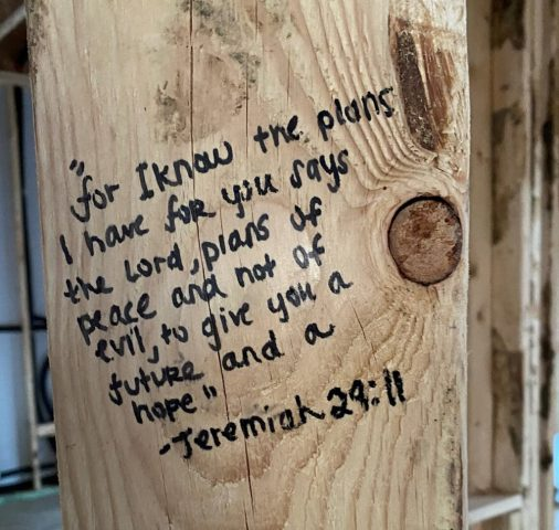 bible verse for the hallway of our home