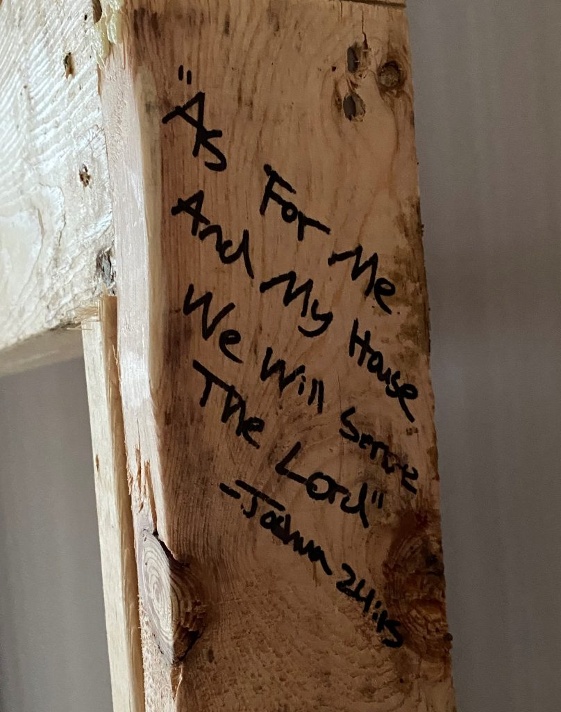 bible verse for the living room