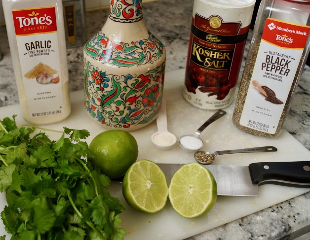 Ingredients for cilantro lime chicken