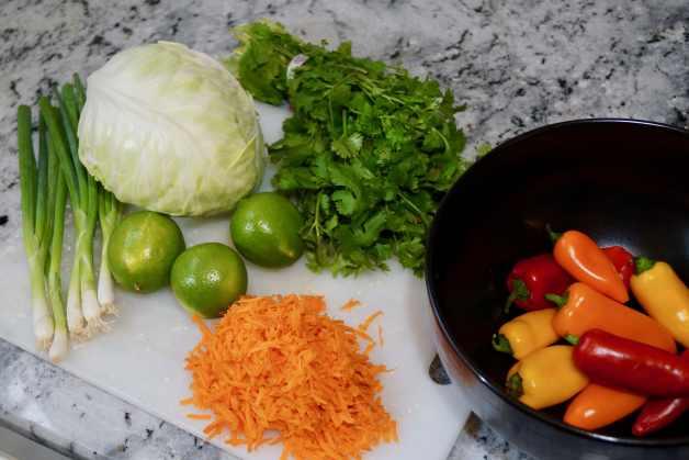 Lime coleslaw ingredients #limecoleslawingredients