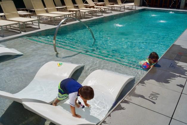 Statler Hotel pool