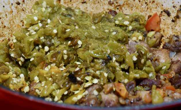 Pork green chile #porkgreenchilewithspinach