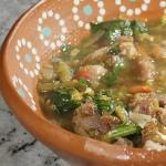 Amazing pork green chile with spinach #porkgreenchilewithspinach