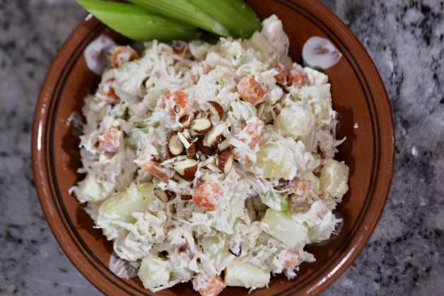 rich and creamy ensalada de pollo (chicken salad) #ensaladadepollo #chickensalad