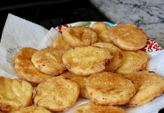 Potato patties on paper towels #potatopatties