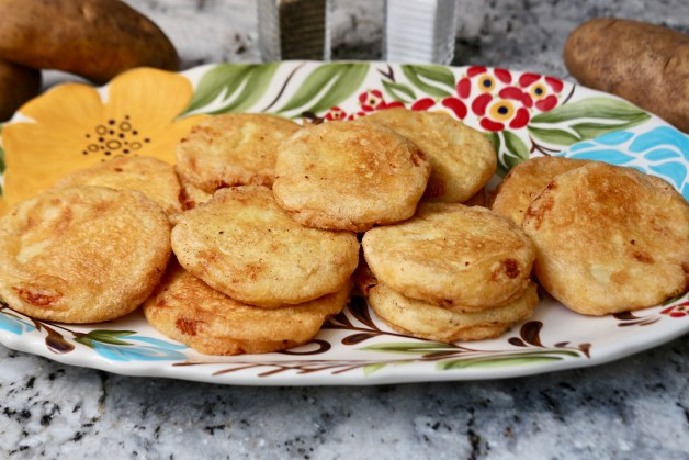 Potato patties on paper towels #potatopatties