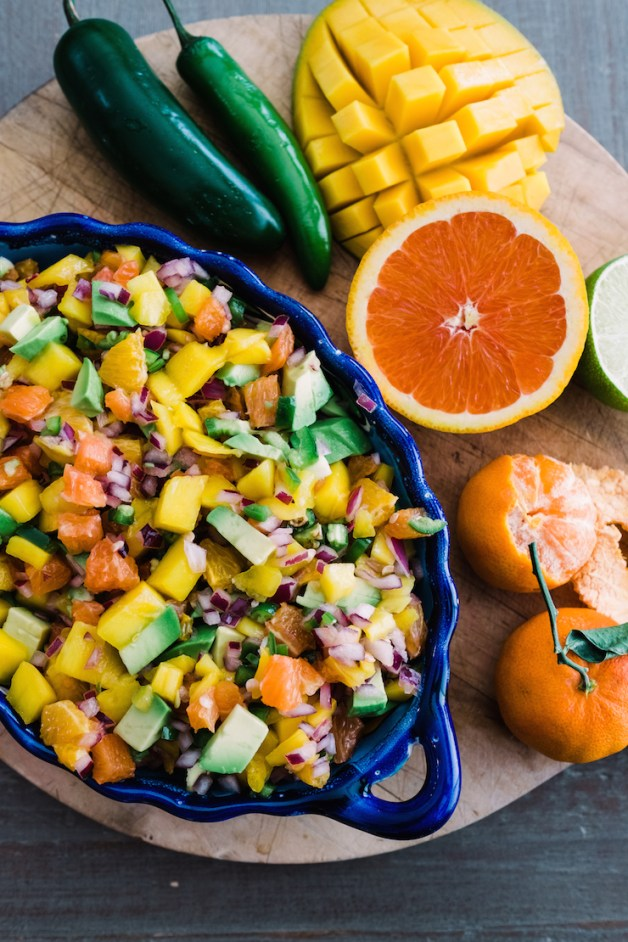 Citrus Mango Avocado Salsa - 13 Delicious Salsas for a Parrillada