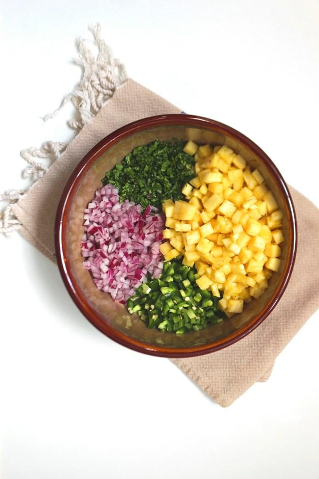 Spicy Pineapple-Jalapeño Salsa #pineapplesalsa