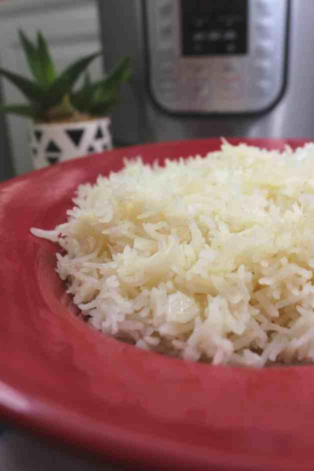 Instant Pot Buttery Basmati Rice #instantpotbasmatirice #butteryrice