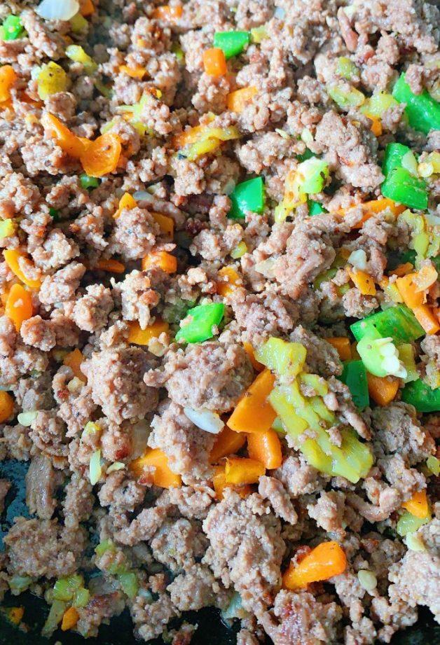 Meat mixture for pastel de papa filling #shepherdspie #pasteldepapa