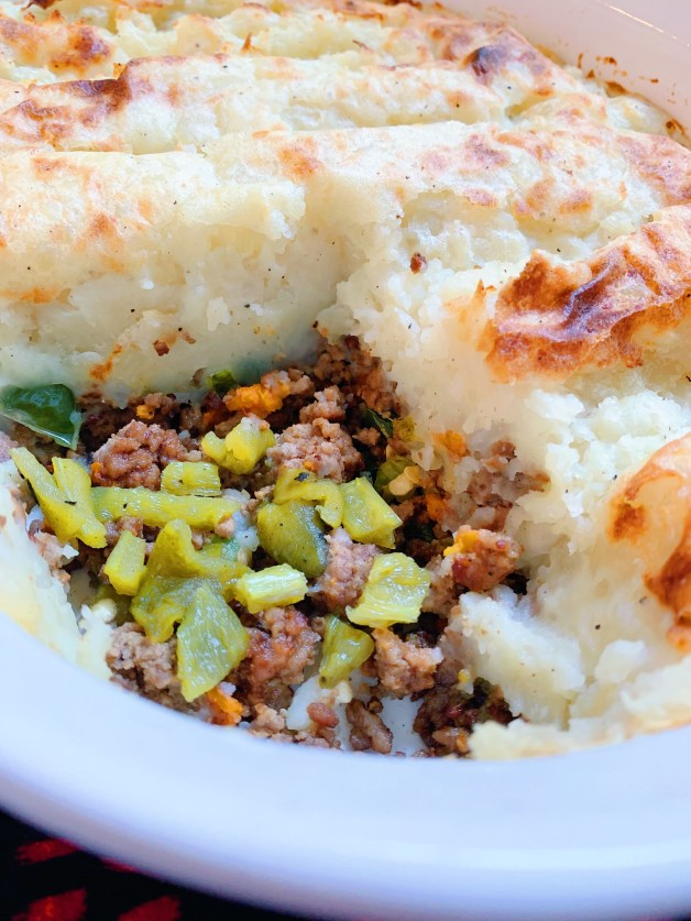 Roasted Green Chile Pastel de Papa (Shepherd's Pie)