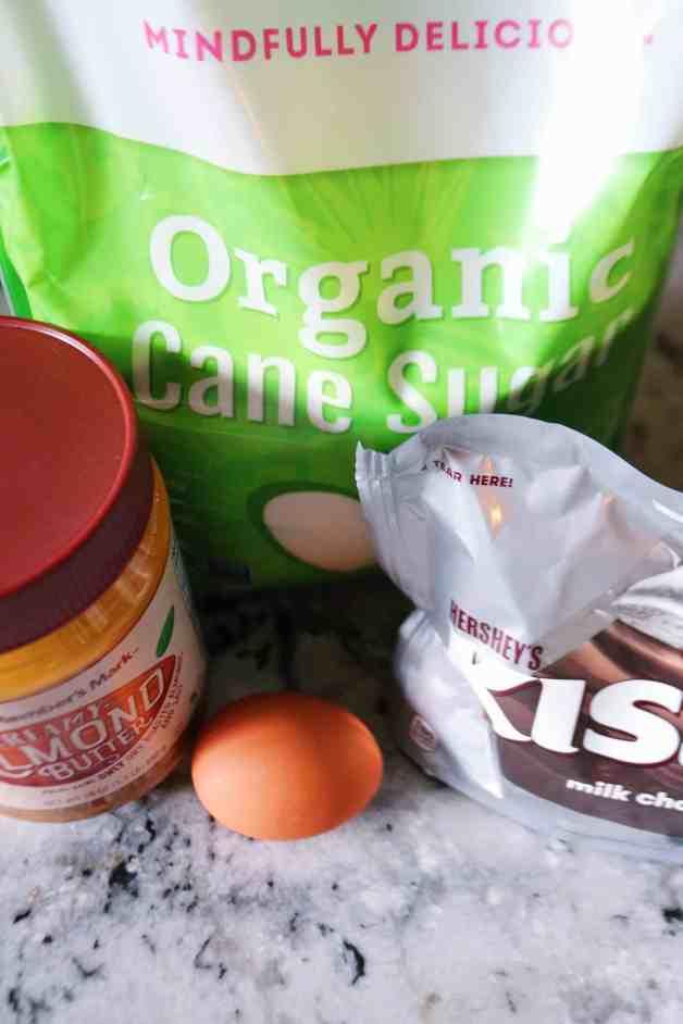Ingredients for gluten-free cookies #almondbutterblossoms #almondbuttercookies