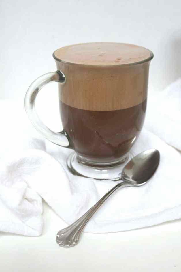 Super Frothy Mocha Latte (Dairy-Free) #homemadelatte #mochalatte #dairyfreelatte