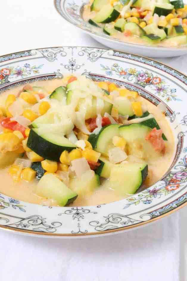 Cheesy Calabacitas con Elote (Zucchini and Corn Soup)