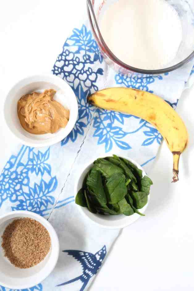 Ingredients for almond butter banana smoothie #smoothie #smoothierecipe #almondbuttersmoothie