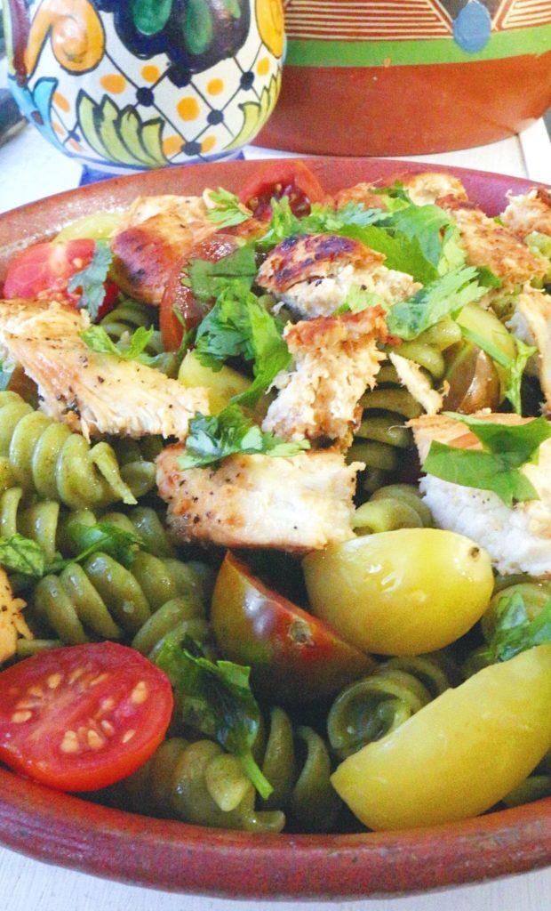 Cilantro Lime Chicken Pasta #pastarecipes #seaweedpasta #cilantrolimechickenpasta
