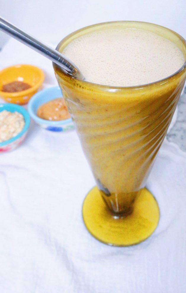 Velvety Peanut Butter Oatmeal Smoothie