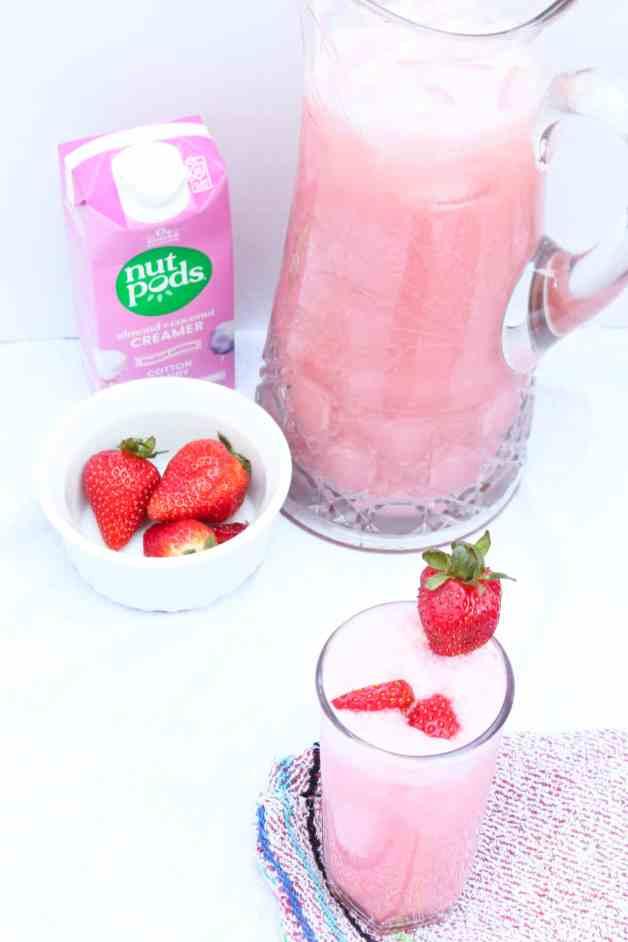 Creamy Strawberry Agua Fresca (dairy-free) with nutpods