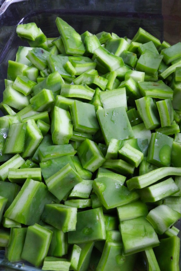 Nopales diced and ready to cook #nopales