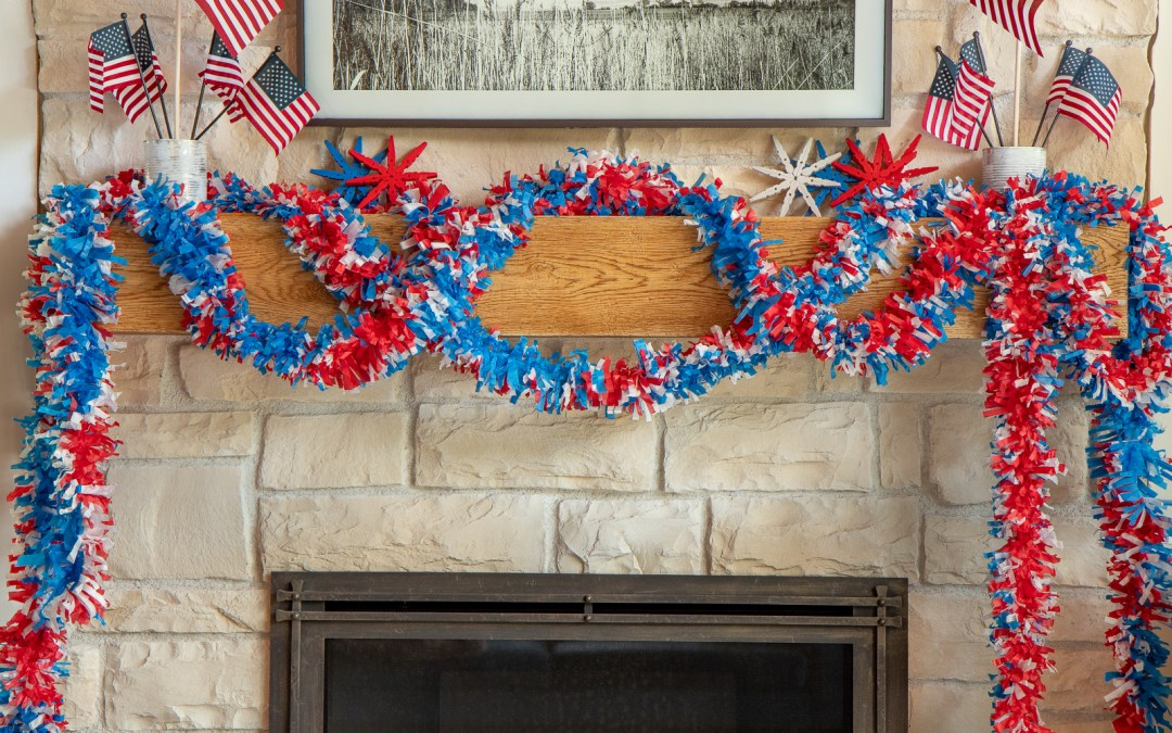 DIY 4TH OF JULY TISSUE PAPER GARLAND