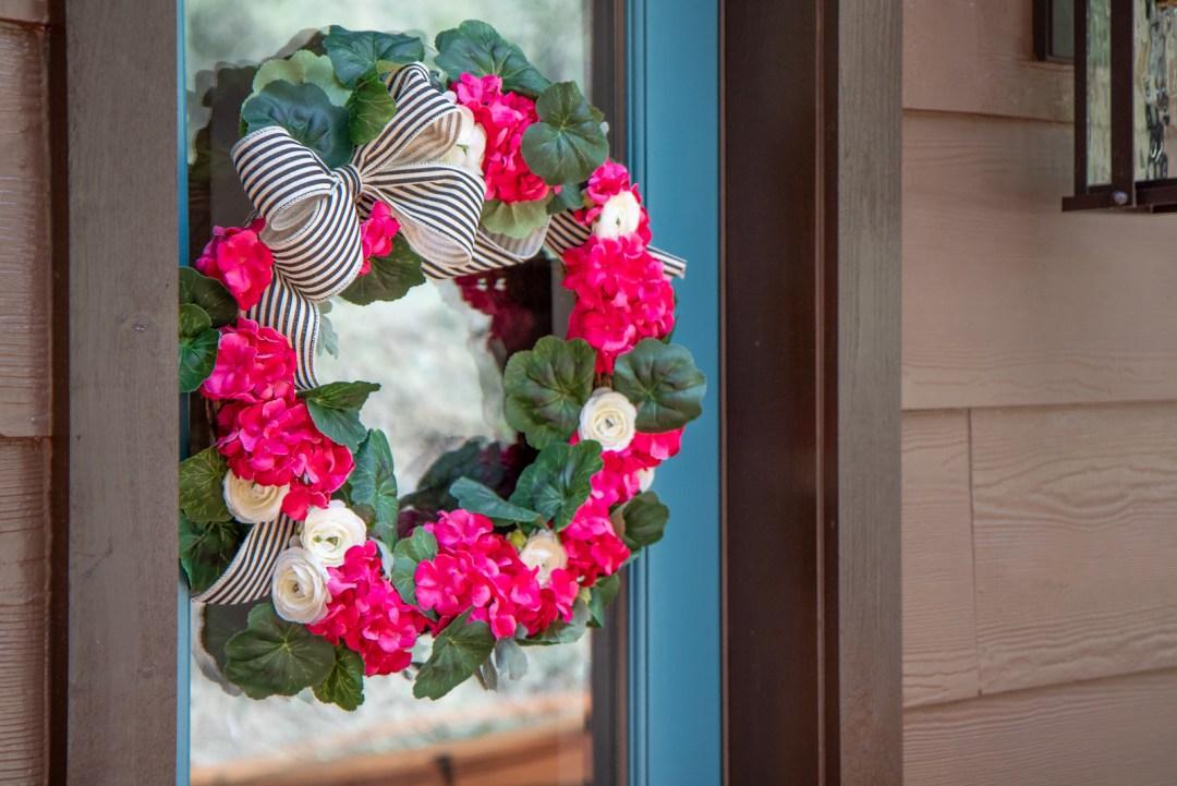 Budget hydrangea wreath tutorial