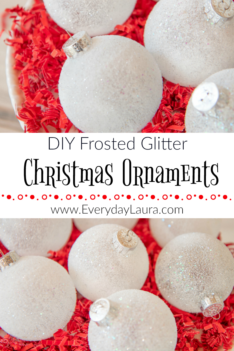 How to make frosted glitter ornaments