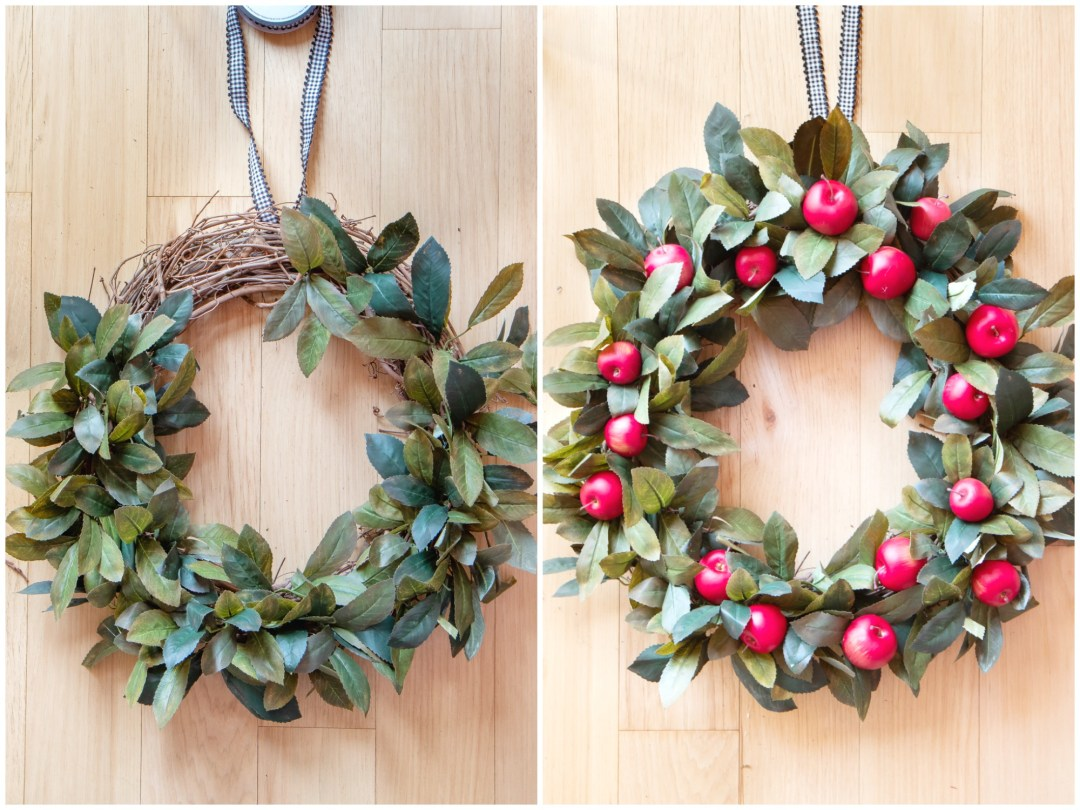How to make an easy apple fall wreath steps