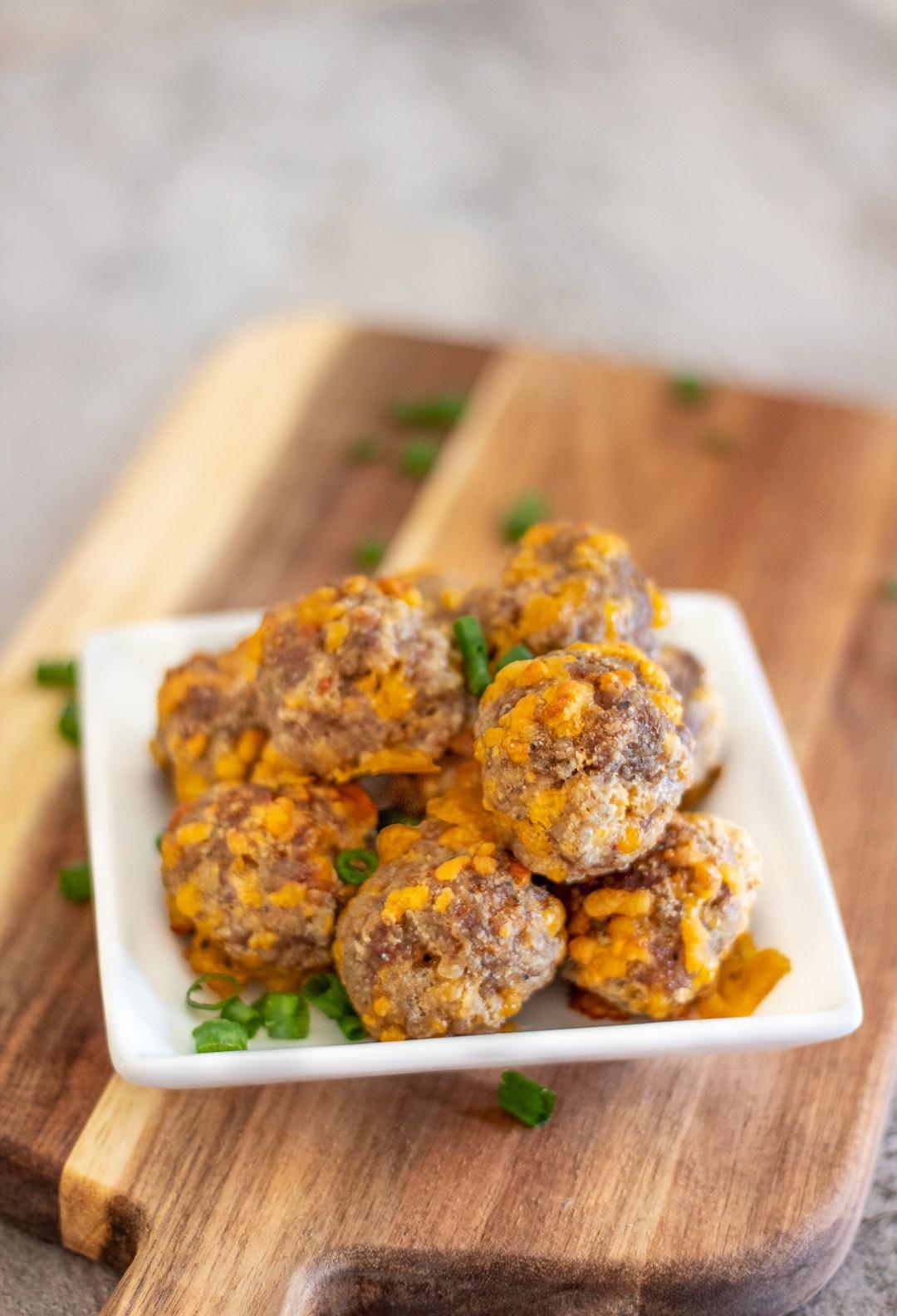 gluten free 3 ingredient sausage balls