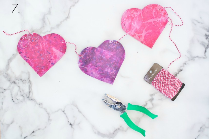 How to make Valentines Day Garland
