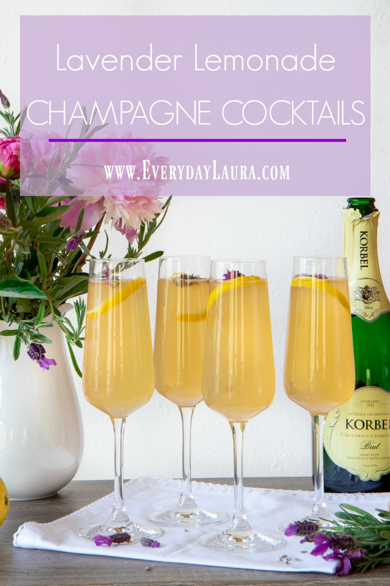 Lavender Lemonade Champagne Cocktails