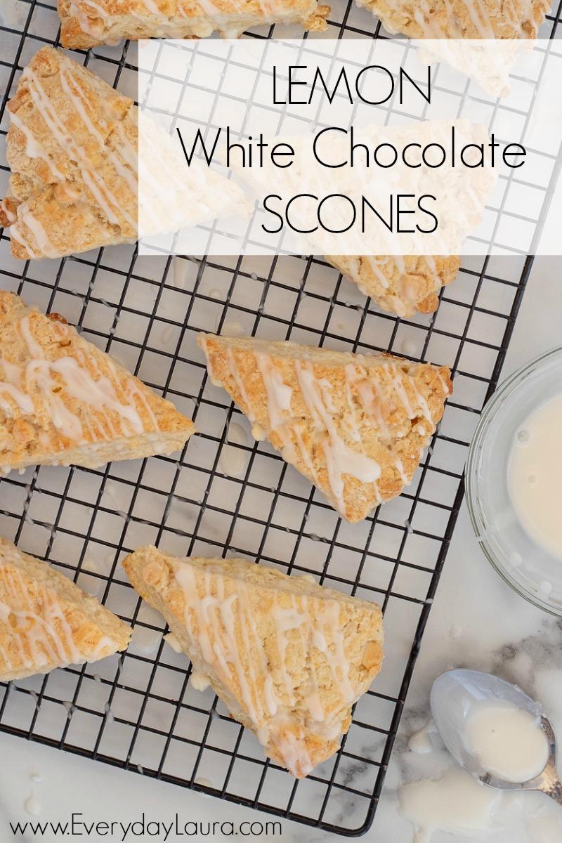 lemon white chocolate scones