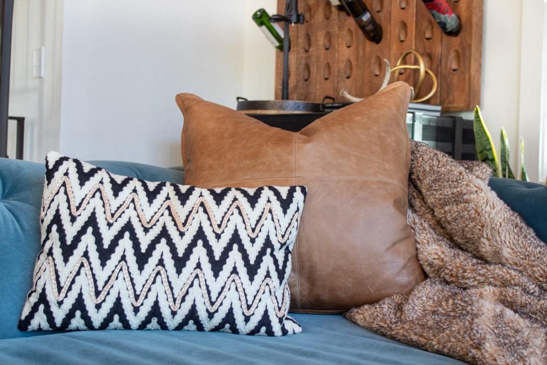 Modern Mountain Home Living Room