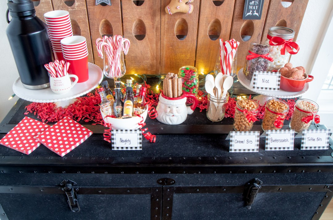 The ultimate Naughty & Nice Hot Cocoa Bar