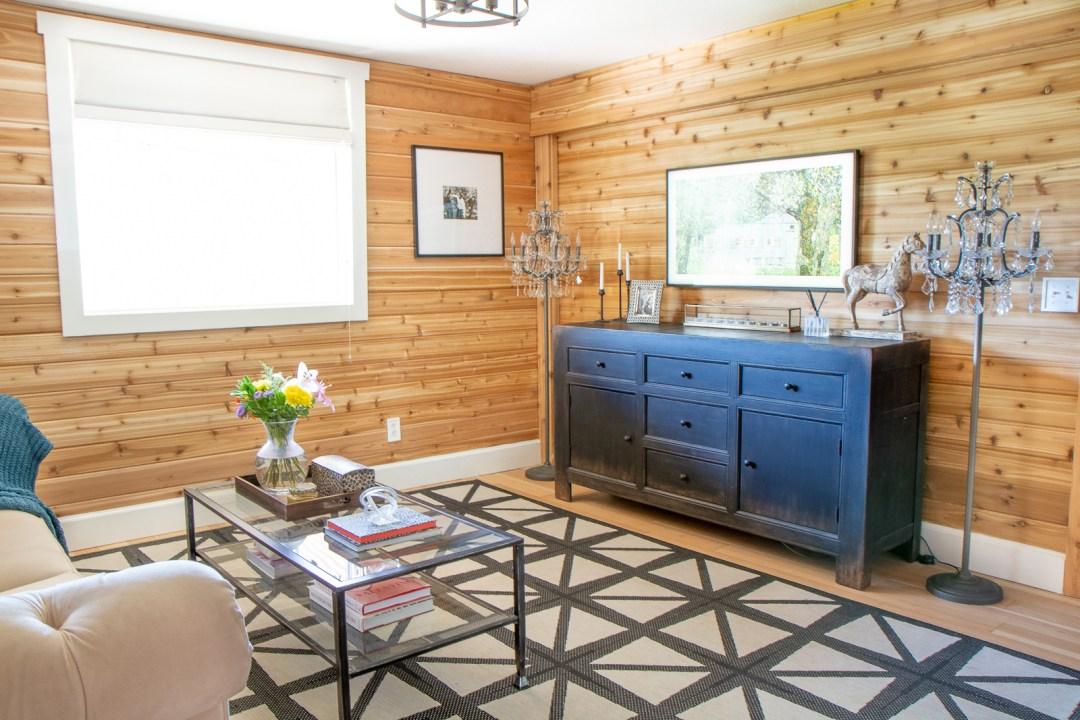 Cedar tongue and groove walls