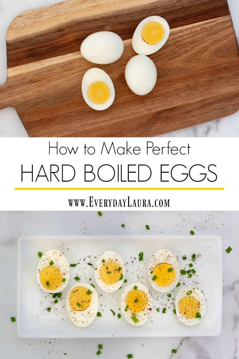 The simple way to make perfect hard boiled eggs in minutes.