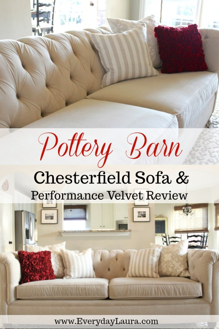 Review Pottery Barn Chesterfield Sofa And Performance Velvet
