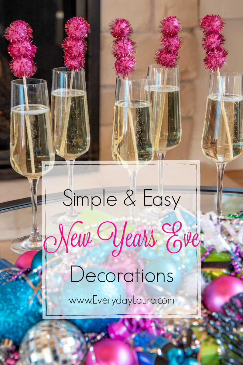 Easy to make New Year's Eve Decorations