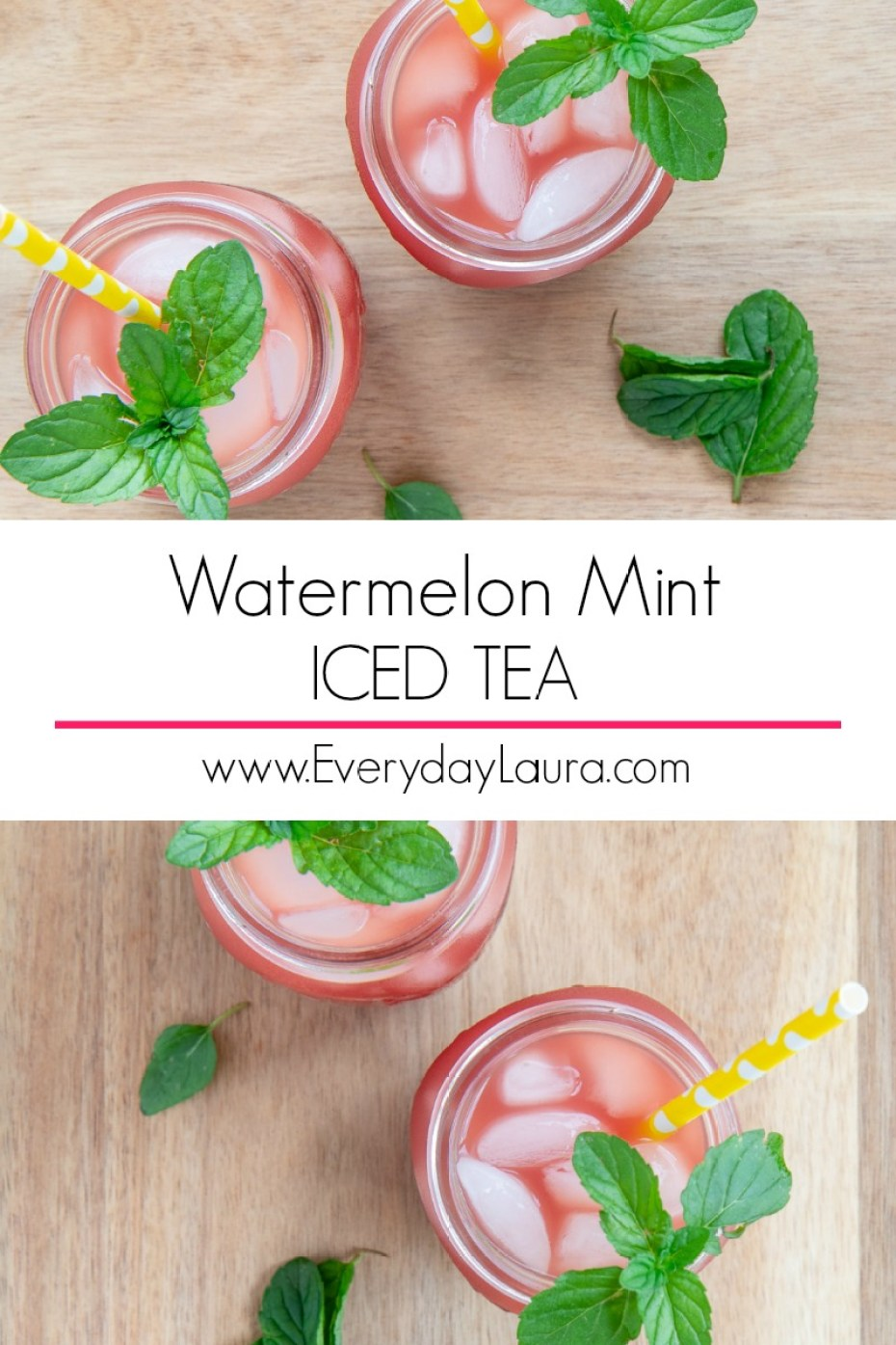 How to make watermelon mint iced tea