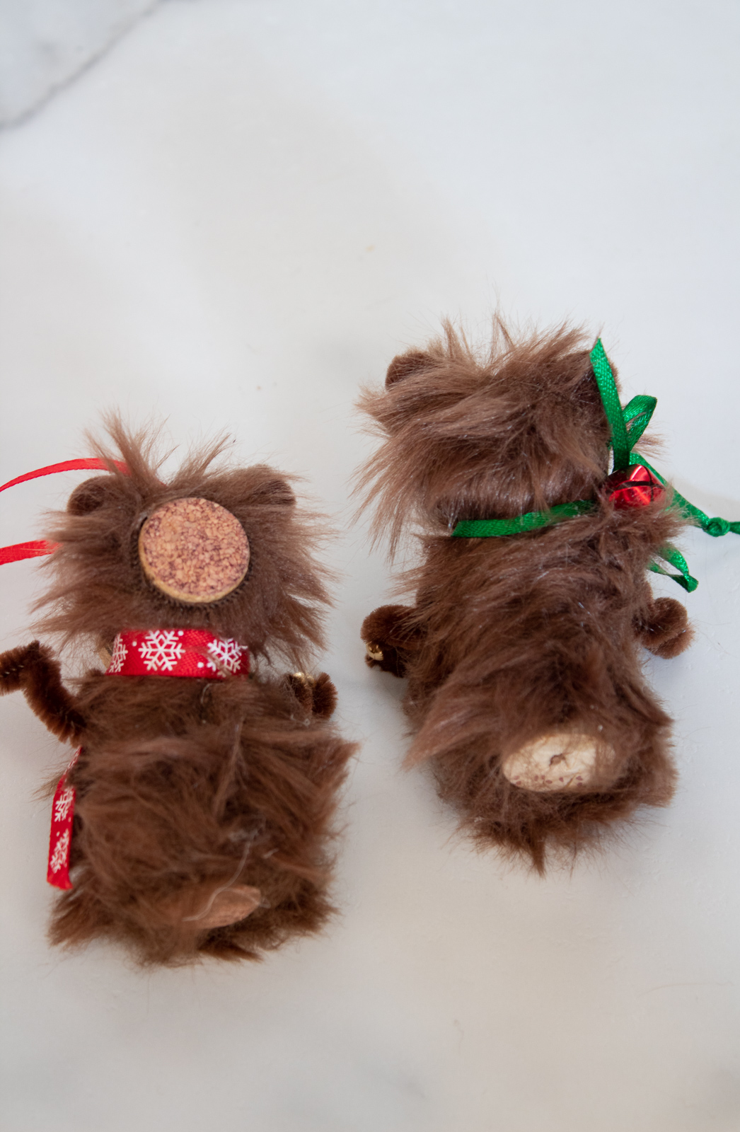 How to make wine cork bear ornaments