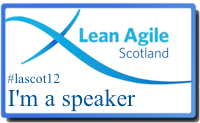 Speaking at Lean Agile Scotland, 21st/22nd September