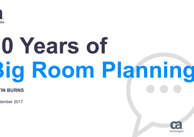 10 Years of Big Room Planning